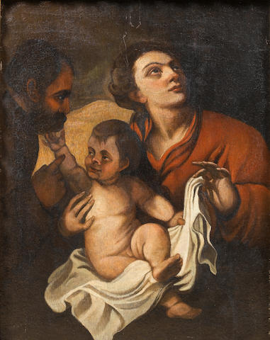 After Sir Anthony Van Dyck, 17th Century The Holy Family 63.2 x 50 cm. (25 x 20 1/8 in.)