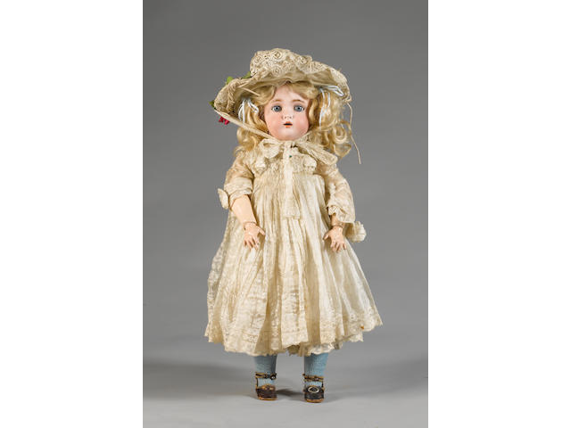 Simon & Halbig/K&R bisque head doll, circa 1910