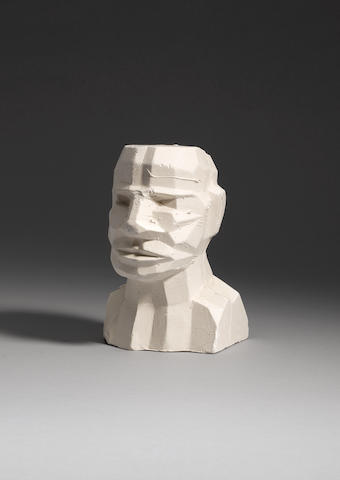 Sir Eduardo Paolozzi (British, 1924-2005) Self Portrait Plaster cast, 1995, signed, dated and dedica