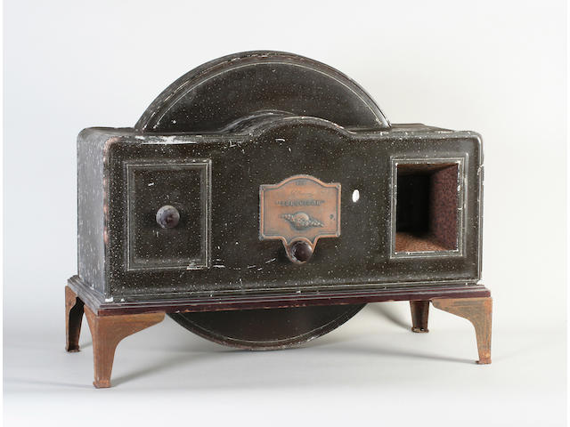 A J L Baird Televisor in arched brown painted aluminium casing