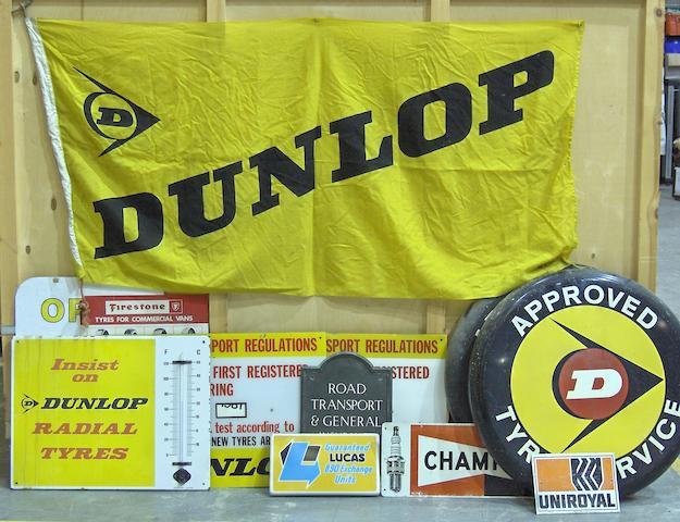 Dunlop advertising material,
