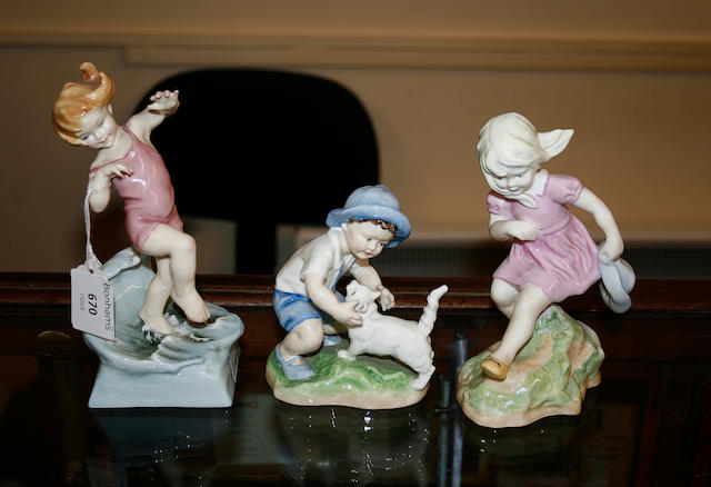 A set of twelve Royal Worcester Months of the Year figurines