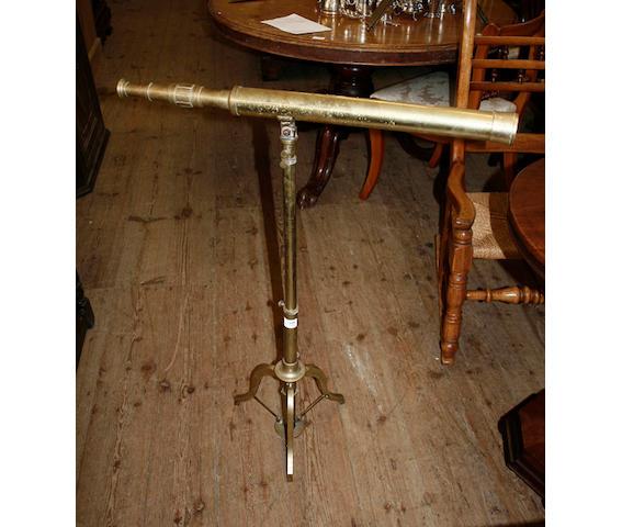 A brass telescope