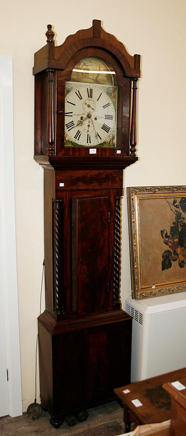 A Victorian mahogany longcase clock,