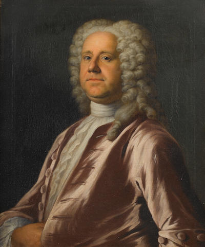 Circle of Jonathan Richardson (London 1665-1745) Portrait of a gentleman, half-length, 75.3 x 63.6 c