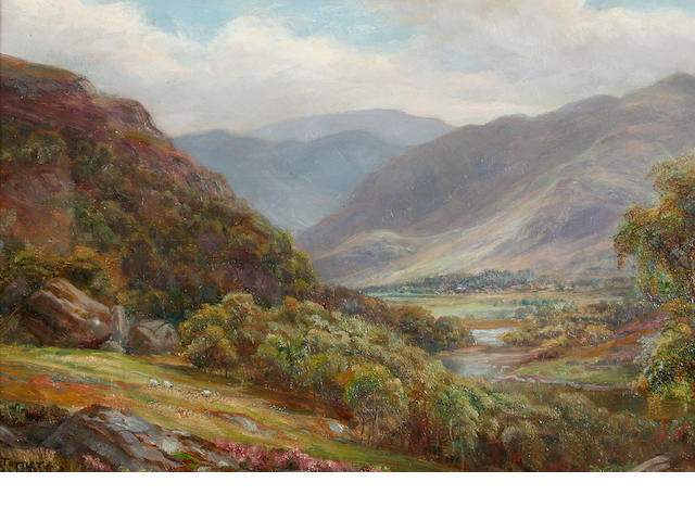 William Lakin Turner (British, 1867-1936) 'Borrowdale near Bowder Stone',