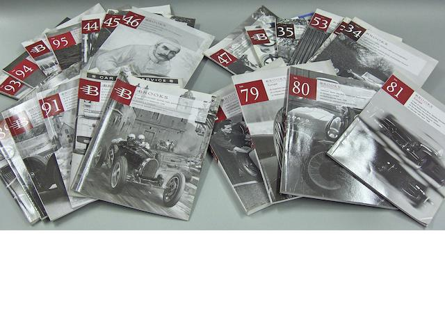 A quantity of Bonhams and Brooks collectors car auction catalogues,