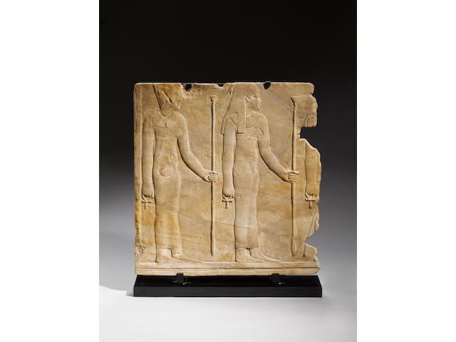 A large Egyptian sandstone relief
