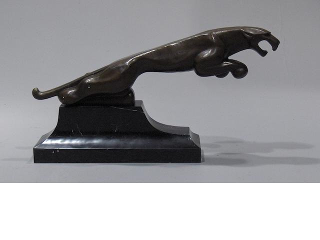 A large Jaguar 'showroom' statue after the original by Frederick Gordon Crosby,