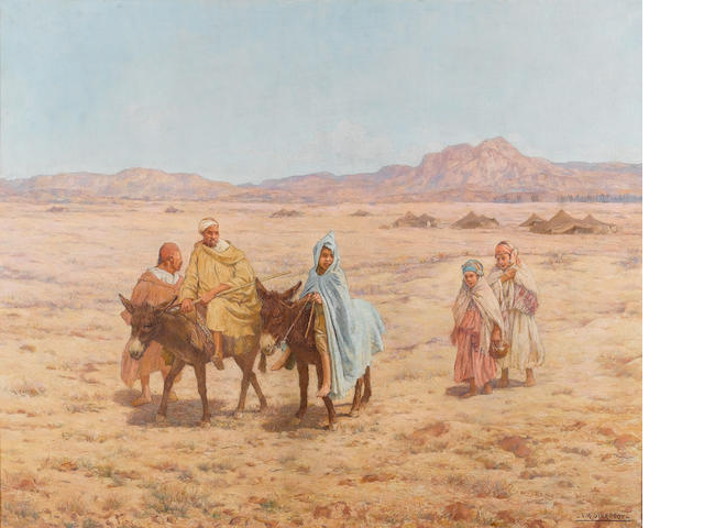Louis Auguste Girardot (French, 1858-1933) On the way to market 60 x 73 cm. (23 3/4 x 28 3/4 in.)