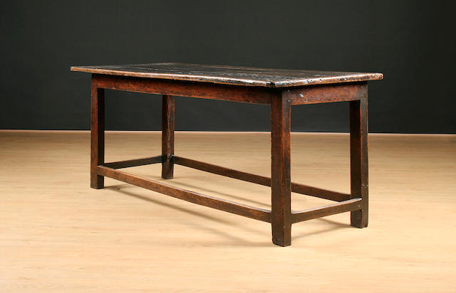 An early 18th Century oak refectory type table