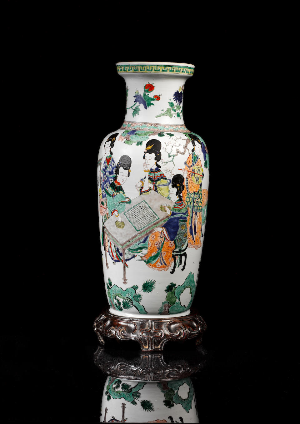 The T.Y. Chao famille verte rouleau vase Kangxi