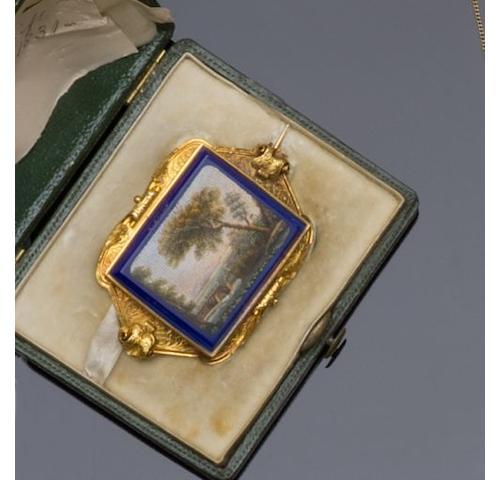 A 19th century micro-mosaic brooch