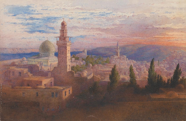 Richard Dadd (British, 1817-1886) View of Jerusalem unframed