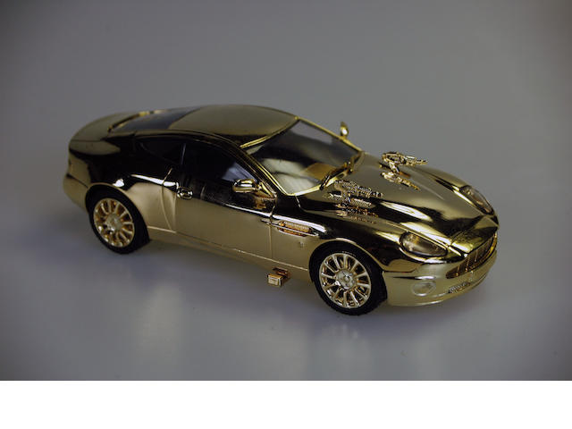 Prototype James Bond Aston Martin V12 Vanquish Gold Plated