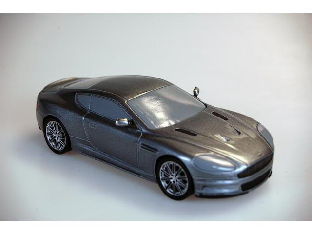 Prototype James Bond Aston Martin DBS solid resin cast with applied decoration