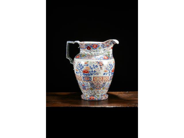 A massive ironstone jug, circa 1840