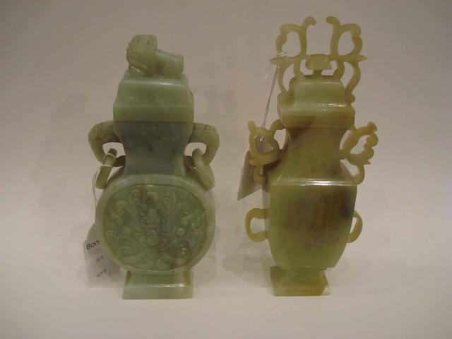 Three hardstone carvings, comprising: