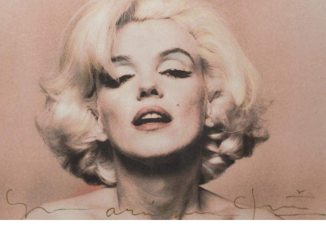 Bert Stern (American, born 1930) 'Marilyn Monroe, Pink Portrait' (from the Last Sitting), originally published in 1962, the present lot a later impression,