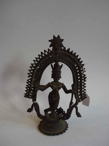 Two metal figures;