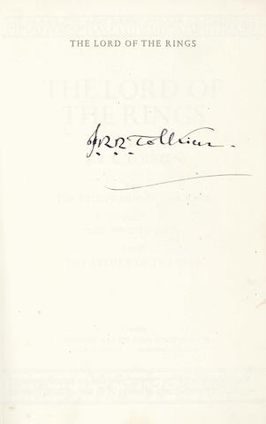 TOLKIEN (J.R.R.) The Lord of the Rings, SIGNED BY THE AUTHOR