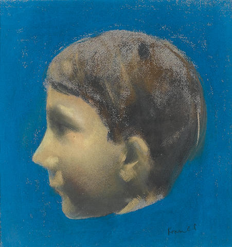 Jacob Kramer (British, 1892-1962) Howard Rose as a Boy 24.5 x 23 cm. (9 5/8 x 9 in.)
