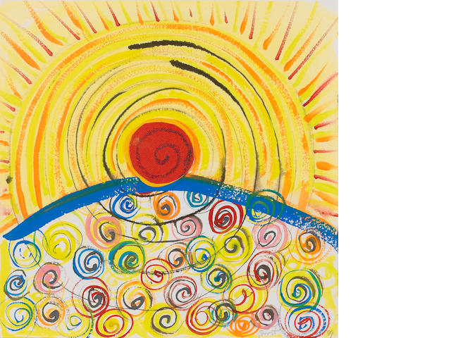 Sir Terry Frost R.A. (British, 1915-2003) Sun Spirals 28 x 27.5 cm. (11 x 10 7/8 in.)