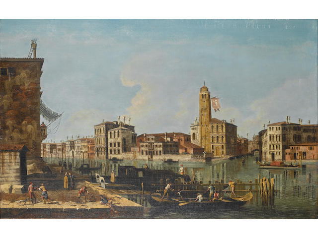 Manner of Michele Marieschi The entrance to the Cannaregio with San Geremia and its campanile 61.8 x