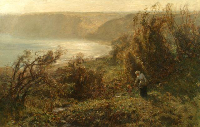 Arthur A. Friedenson (British, 1872-1955) Runswick Bay 36 x 50 in.
