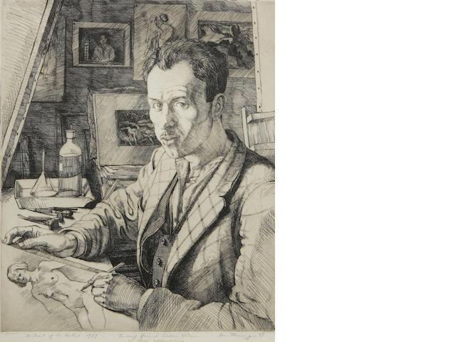 Ian Fleming, RSA RSW RWA RGI LLD HonDart (British, 1906-1994) Self portrait