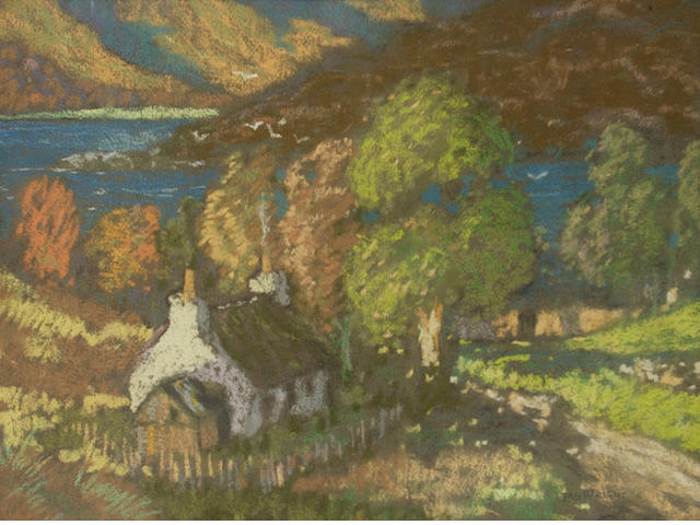 James Wright, RSW (British, circa 1885-1947) Cottage by the Gareloch