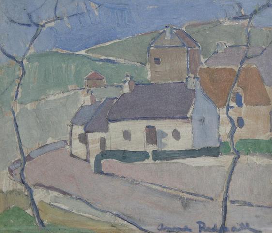 Anne Redpath, OBE RSA ARA LLD ARWS ROI RBA (British, 1895-1965) A Borders village