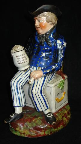 A Staffordshire 'Small Sailor' Toby jug, circa 1820