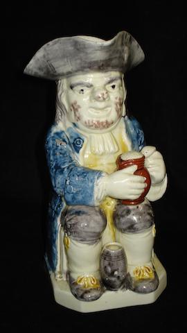 A pearlware Toby jug, circa 1790