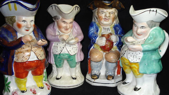 Four various Toby jugs, 19th/20th Century