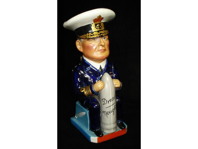 A Wilkinson 'Admiral Beatty' Toby Jug, modelled by Carruthers Gould, circa 1917