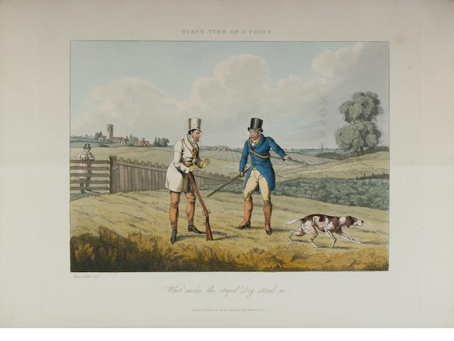 "Henry Alken (British 1785-1851) A folio of ""A Cockneys Shooting Season in Suffolk"" overall 37.5 x 27.5cm (14 3/4 x 10 3/4in)."