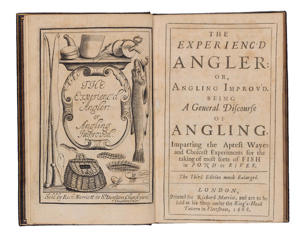 VENABLES (ROBERT) The Experienced Angler: or, Angling Improv'd. Being a general discourse of angling... third edition much enlarged