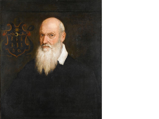 Venetian School, late 16th Century Portrait of a bearded gentleman, 74.3 x 64.5 cm. (29¼ x 25 3/8 in