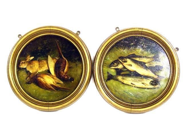 Chris Meadows, two circular still life