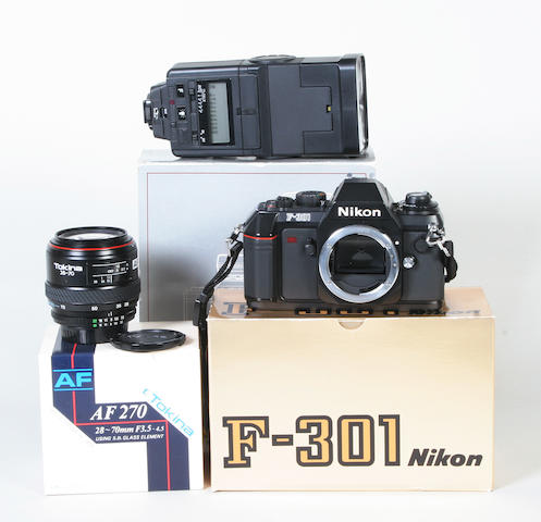 Nikon F-301 camera