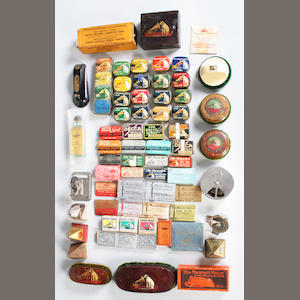 Needle tins and accessories, mainly His Master's Voice