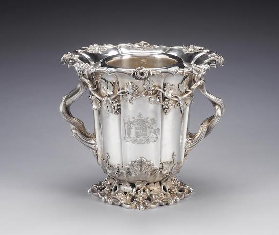 A Victorian silver two-handled wine cooler and liner, by Edward Barnard, Edward Barnard Jnr., John & William Barnard, London 1838,