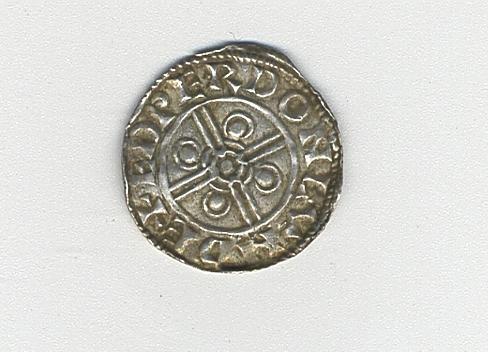 Cnut (1016-35), Helmet type, Penny, 1.0g, London, BMC XIV, bust left wearing pointed helmet, in front, sceptre,  CNVT RECX A:,