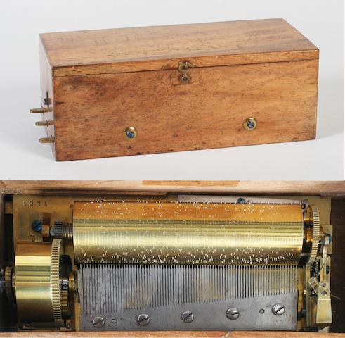 An early keywind musical box