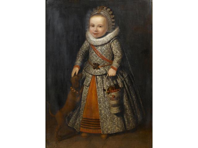 Circle of Wybrand Simonsz. de Geest I (Leeuwarden 1592-1659) Portrait of a child, 99 x 70 cm. (39 x 27½ in.)