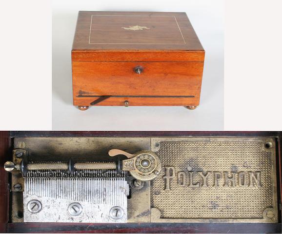 A Polyphon disc musical box style 46