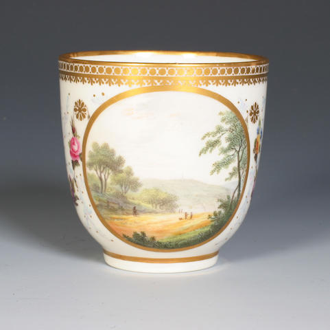 A Derby coffee cup by Zachariah Boreman and William Billingsley Circa 1790