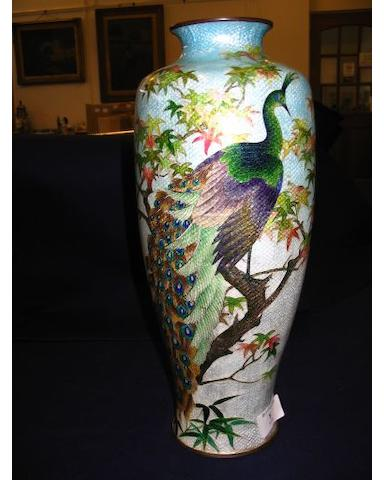A mid 20th century Chinese cloisonne vase