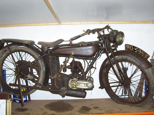 1925 Raleigh 248cc Model 14  Frame no. 1887 Engine no. 1886